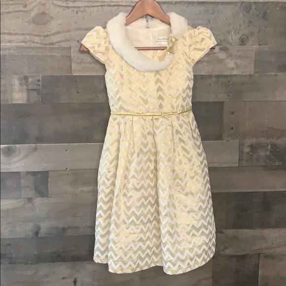Jona Michelle Other - Beautiful White and Gold Jona Michelle Dress